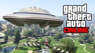 GTA 5 Online - Secret UFO Mission! How To Get A Flying UFO, Skylift & Alien Car! (GTA V)