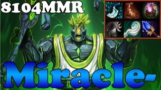 Dota 2 - Miracle- 8104MMR TOP 1 MMR in the World Plays Earth Spirit vol 9 - Ranked Match Gameplay