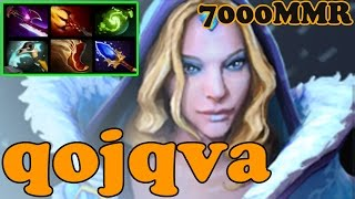 Dota 2 - qojqva 7000 MMR Plays Crystal Maiden - Ranked Match Gameplay