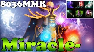 Dota 2 - Miracle- TOP 1 MMR IN THE WORLD 8036MMR Plays Invoker - Full Game - Ranked Gameplay