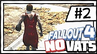 RED DRESS ADVENTURES! [2] Fallout 4 NO VATS | SURVIVAL DIFFICULTY | CHALLENGE PLAYTHROUGH