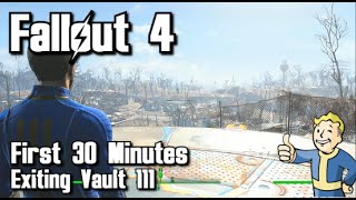 Fallout 4 - First 30 Minutes - Exiting Vault 111 (Xbox One) - Part 2