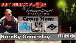 Dota 2 TI5 Groupstage | C9 vs Secret Game 1 | KuroKy - Rubick Gameplay