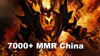 One of Highest mmr pub in history 5x 7000+ Chinese Dota 2
