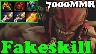 Dota 2 - Fakeskill 7000 MMR Plays Bloodseeker - Ranked Match Gameplay