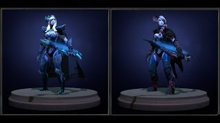 Dota 2 Drow Ranger - Gifts of the Shadowcat rare set review