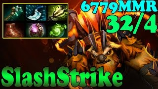 Dota 2 - SlashStrike 6779 MMR Plays Earthshaker Vol 1# - Ranked Match Gameplay!