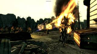 Fallout 3 - Army of flamethrower-wielding Bryan Wilks vs. Super Mutant Behemoth (1 of 2)