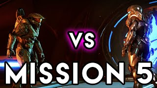 MASTER CHIEF vs. SPARTAN LOCKE! - Mission 5: Unconfirmed (Halo 5 Guardians Campaign Gameplay)