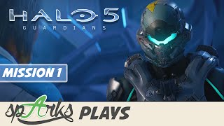 Halo 5 Guardians Co-op Gameplay Walkthrough Part 1 - Halsey - Campaign Mission 1 (Xbox One)