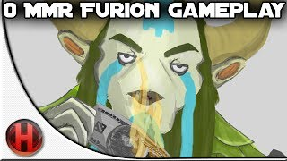 Dota 2 - 0 MMR Furion Gameplay