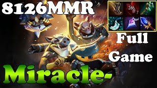 Dota 2 - Miracle- 8126MMR TOP 1 MMR in the World Plays Techies - Full Game - Ranked Match