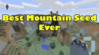 Minecraft PS4 And Xbox One: Best Mountain Biome Seed!! Seed Showcase [10]