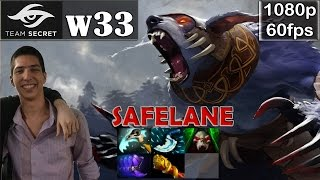 w33 (Secret) - Ursa Safelane | Dota 2 Pro Gameplay