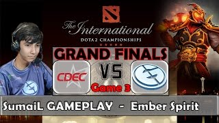 SumaiL - Ember Spirit Gameplay | Grand Finals TI5 Dota 2 - CDEC vs EG GAME 3