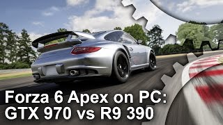 Forza Motorsport 6 Apex: GTX 970 vs R9 390 Gameplay Frame-Rate Test