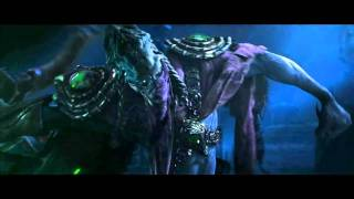 StarCraft II Wings of Liberty Zeratul VS Kerrigan Cinematic hd rus