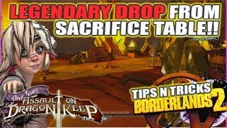 Legendary Gun Drop From Sacrifice Alter!! Tiny TIna Assault On Dragon's Keep: Borderlands 2