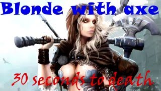 Blonde with axe / Блондинка с топором Dark Souls 2 pvp build