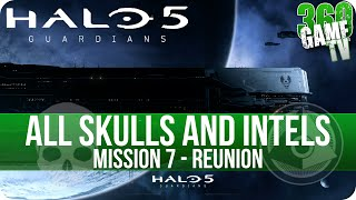 Halo 5 Guardians All Skulls and Intel Locations Mission 7 Reunion - All Collectibles Guide Part 7
