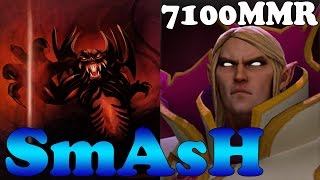 Dota 2 - SmAsH 7100 MMR Plays Invoker and Shadow Fiend - Ranked Match Gameplay