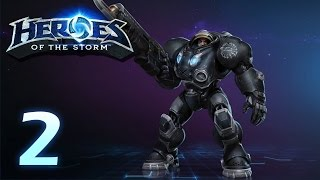 Heroes of the Storm: Jim Raynor - Gameplay #2 (w/ 4 man team)