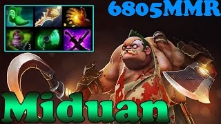 Dota 2 - Miduan 6800 MMR Plays Pudge Vol 1# - Ranked Match Gameplay!