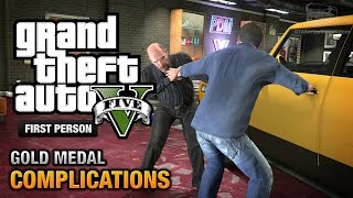 GTA 5 - Mission #3 - Complications [First Person Gold Medal Guide - PS4]