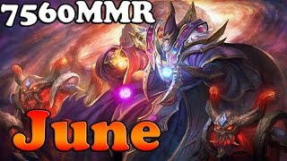 Dota 2 - June top 1 MMR China 7560 MMR plays Invoker vol 2# - Ranked Match Gameplay