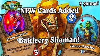 Flame Juggler Lance Carrier now in BattleCry Shaman ~ Hearthstone The League of Explorers LoE