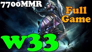 Dota 2 - w33 7700 MMR Plays Luna - FULL GAME - Ranked Match Gameplay