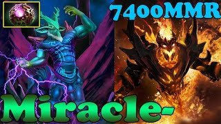 Dota 2 - Miracle- 7400 MMR Plays Leshrac And Shadow Fiend - Ranked Match Gameplay!