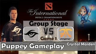 Dota 2 TI5 Groupstage | Secret vs Fnatic Game 1 | Puppey - Crystal Maiden Gameplay
