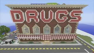 Minecraft xbox Epic Structures: SPANKLECHANK'S Drug Store