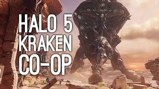 Let's Play Halo 5 Campaign - Destroy the Kraken in Halo 5 Co-op Gameplay