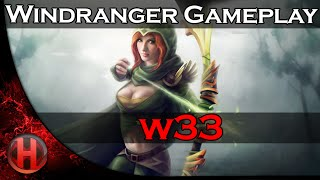w33 7683 MMR Top 1 Europe Ranked Windranger Gameplay Dota 2