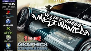 Need for Speed Most Wanted | Graphics Comparison | ( PS2, Gamecube, Xbox, 360, PC, GBA, NDS, PSP )