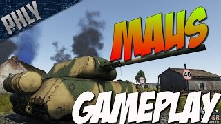 War Thunder - MAUS PanzerVIII Gameplay - War Thunder Tanks Gameplay