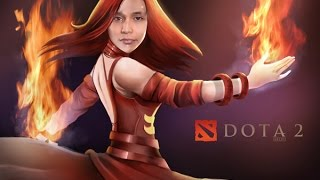 DotA 2 - SingSing (Lina) (30-5-25) in a hectic pub game with Excalibur (Bristleback)