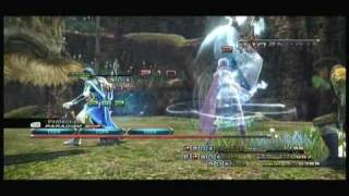 Final Fantasy XIII English 360 Gameplay - Battles + Odin Summon