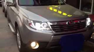 2008-2012 Subaru Forester Xenon Headlight with LED DRL and Angel Eye