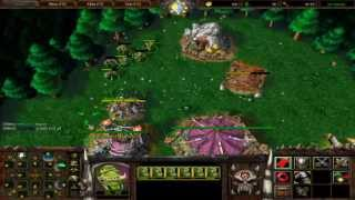 Warcraft 3: The Frozen Throne Gameplay Online Multiplayer  (Orc 4v4 on PC)