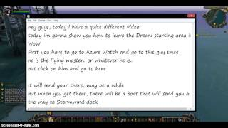 How to Leave the Draenei Start Area -World of Warcraft-