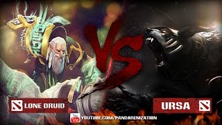 Ursa VS Lone Druid [Битва героев Mid only] Dota 2