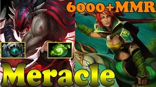 Dota 2 - Meracle 6000+ MMR Plays Bloodseeker And Windranger - Ranked Match Gameplay!