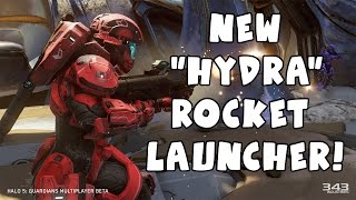 Halo 5 Hydra - NEW Rocket Launcher Weapon 1080p 60fps Beta Gameplay