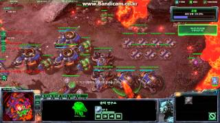 Starcraft 2 Final mission all in, without nydus worm, use psi disrupter, Brutal
