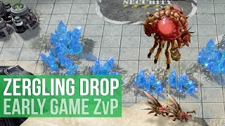 StarCraft 2: Legacy of the Void - Early Game Zergling Drops! (Game Analysis)