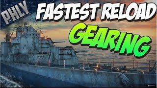 FASTEST GUNS In The Game! Tier 10 GEARING! (World Of Warships Gameplay)