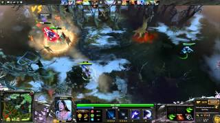 Dota 2 - 5 Man Ranked MM Mirana vs Pudge Mid